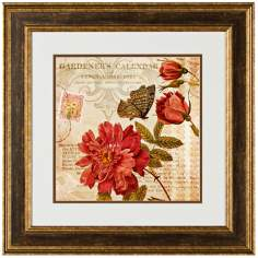 "Botanical Practice I 20 1/2"" Square Framed Wall Art Print"