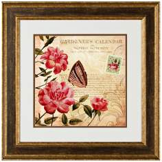 "Botanical Practice II 20 1/2"" Square Framed Wall Art"