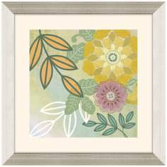 "Floral I 23"" Square Framed Wall Art Print"