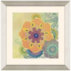 "Floral II 23"" Square Framed Wall Art Print"