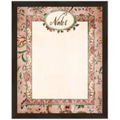 "Vintage Botanical 22"" High Framed Memo Board"
