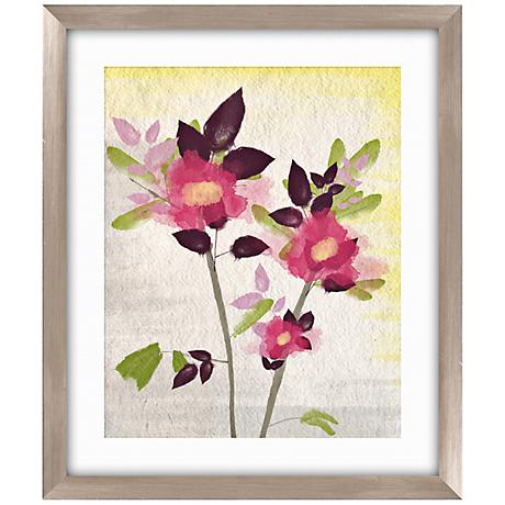 "Watercolor Rose I 26 1/2"" High Framed Abstract Wall Art"