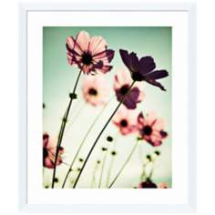 "Floral Haze II 26"" High Framed Wall Art Print"