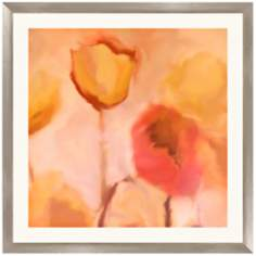 "Romantic Floral 30 1/4"" Square Framed Wall Art Print"