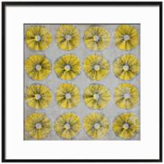 "Dandelion Dance II 17 1/4"" Square Framed Floral Wall Art"