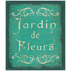 "Jardin De Fleurs 14"" High Framed Wall Art Print"