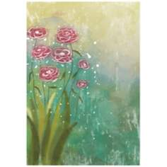"Watercolor Flowers 26"" High Gallery Wrap Canvas Wall Art"