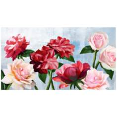"Rose Serenity 22"" Wide Gallery Wrapped Canvas Wall Art"