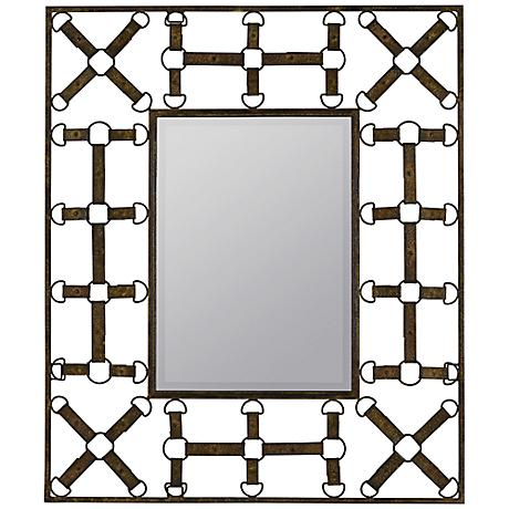 "Windfall 37 1/2"" High Rectangular Wall Mirror"