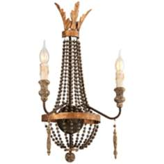 "Delacroix Collection 24 3/4"" High French Bronze Wall Sconce"