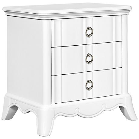 Gabrielle Snow White 3-Drawer Night Stand