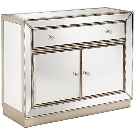 Trevi Mirrored 2-Door 1-Drawer Accent Chest