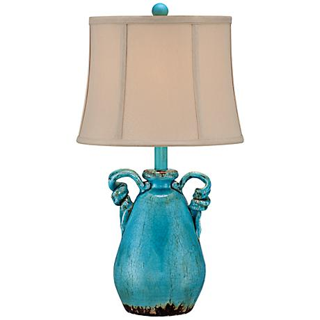 Sofia Turquoise Blue Ceramic Table Lamp