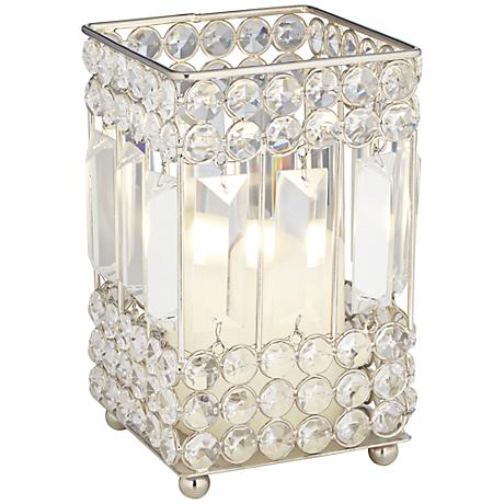 Cristalis Prism Small Crystal Pillar Candle Holder