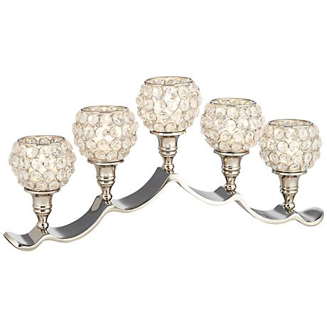 Cristalis 5-Light Crystal Pillar Candle Holder