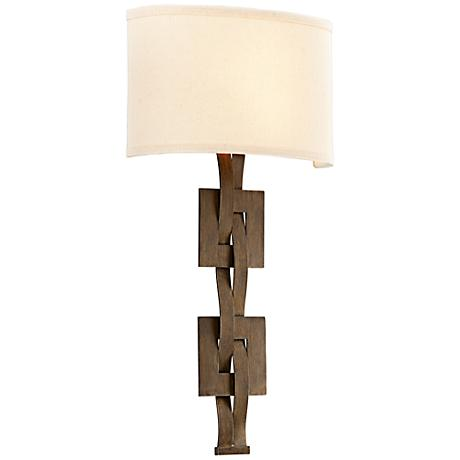 "Jensen Collection 21 1/4"" High Danish Bronze Wall Sconce"
