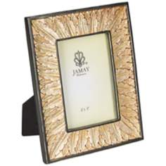 Louis Leaf 4x6 Bronze Metal Photo Frame