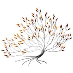 "Manzanita 51"" Wide Metal Wall Art"