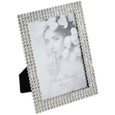 Cherise Chrome with Jeweled Border 5x7 Photo Frame
