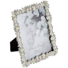 Padova Chrome and Pearl 5x7 Photo Frame