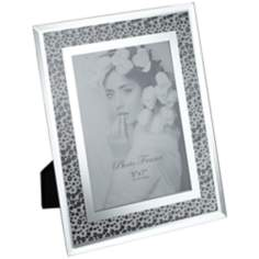 "Tiger Spot Chrome and Glass 5""x7"" Photo Frame"