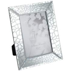 "Silver Leopard Print Glass 5""x7"" Photo Frame"