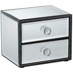 Mirrored 2-Drawer Jewelry Box