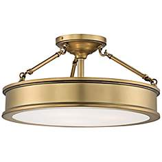 "Harbour Point 19"" Wide Liberty Gold Ceiling Light"