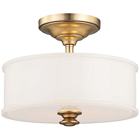 "Harbour Point 13 1/2"" Wide Liberty Gold Ceiling Light"