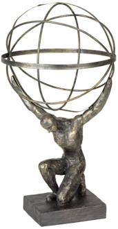 "Atlas with Globe 17 1/4"" High Bronze Sculpture (2X035) 2X035"