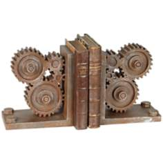 Industrial Gears Bookends Set