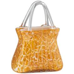 Orange and Yellow Handblown Glass Handbag