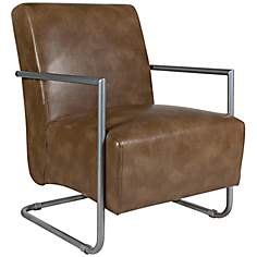 angelo:HOME Roscoe Milk Chocolate Renu Leather Armchair