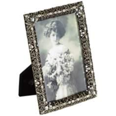 Ophelia Gold and Black With Austrian Stones Photo Frame