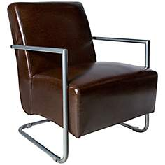 angelo:HOME Roscoe Caramel Renu Leather Armchair