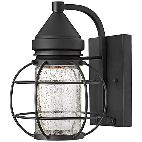 "Hinkley New Castle 9 3/4"" High Black Outdoor Wall Light"