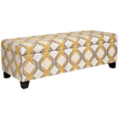 angelo:HOME Kent Deco Yellow Tilework Storage Ottoman