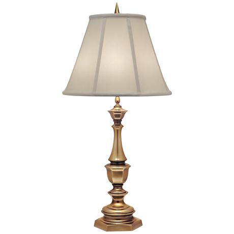 Stiffel Ivory And Antique Brass Table Lamp