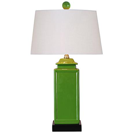 Apple Green Porcelain Jar Table Lamp