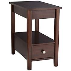 Franklin Espresso Side Table