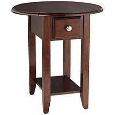 Round Drop Leaf Accent Table