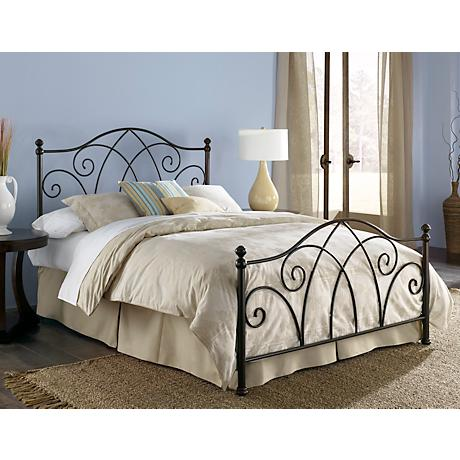 Deland Brown Sparkle Metal Beds