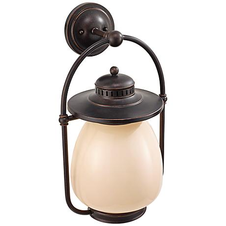 Feiss McCoy Grecian Bronze Outdoor CFL Lantern