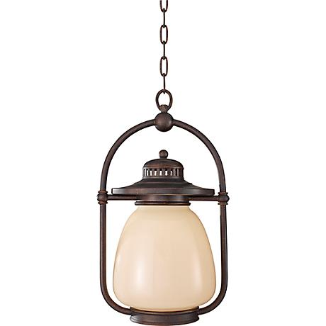 Feiss McCoy Grecian Bronze Outdoor Hanging CFL Lantern