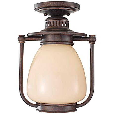 Feiss McCoy Grecian Bronze Outdoor CFL Ceiling Lantern