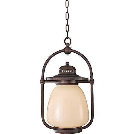 Feiss McCoy Grecian Bronze Outdoor Hanging Lantern