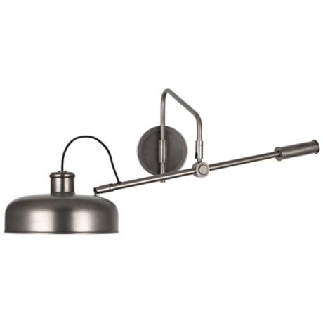 Wall Mounted Boom Lamp : Robert Abbey Albert Patina Nickel Wall Mounted Boom Lamp - #2Y581 www.lampsplus.com