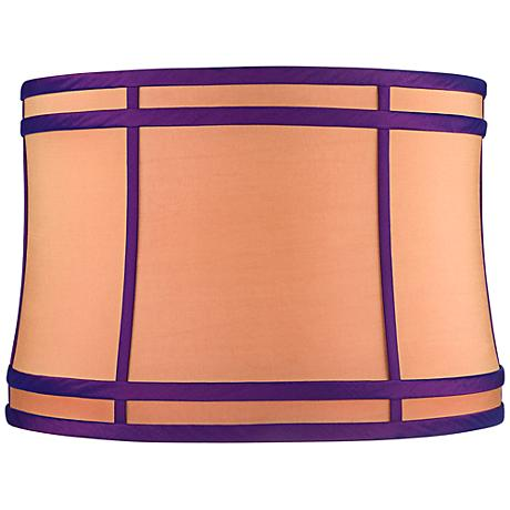 Orange Purple Colorblock Lamp Shade 15x16x11 (Spider)