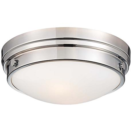 "Culver Collection 13 1/4"" Wide Chrome Ceiling Light"