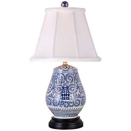 Blue And White Vase Table Lamp